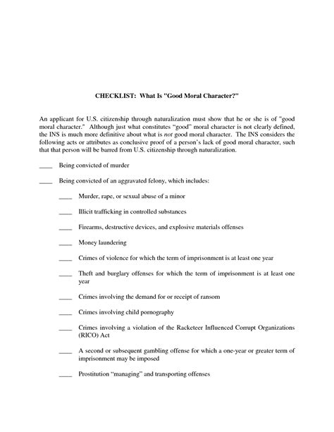Affidavit Of Good Moral Character Sle Free Printable Documents Character Affidavit Template