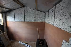 how to put up and insulate a shed tide
