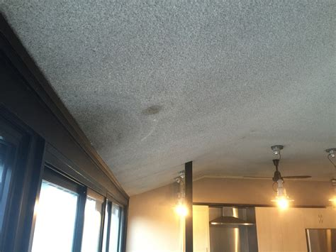 before afters vermiculite ceiling