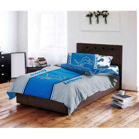 detroit lions bedding nfl detroit lions bedding set walmart com
