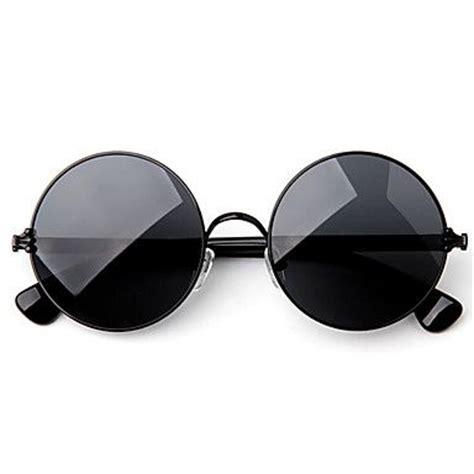 Kacamata Fashion Stainless Rounded Bulat Korean Style 3 sunglasses mf