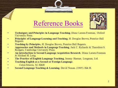 reference techniques books teaching methodology ppt
