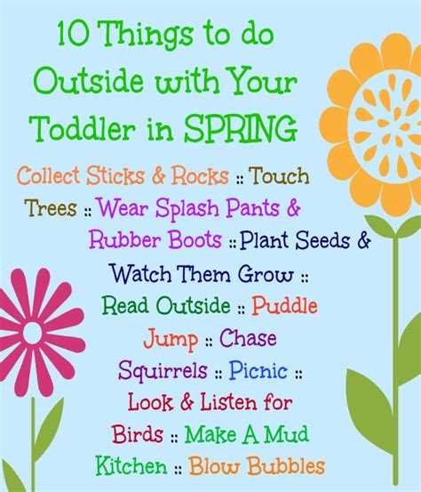 7 Things To Do With Your Toddlers by 10 Ideas For Outdoor Play With Toddlers In