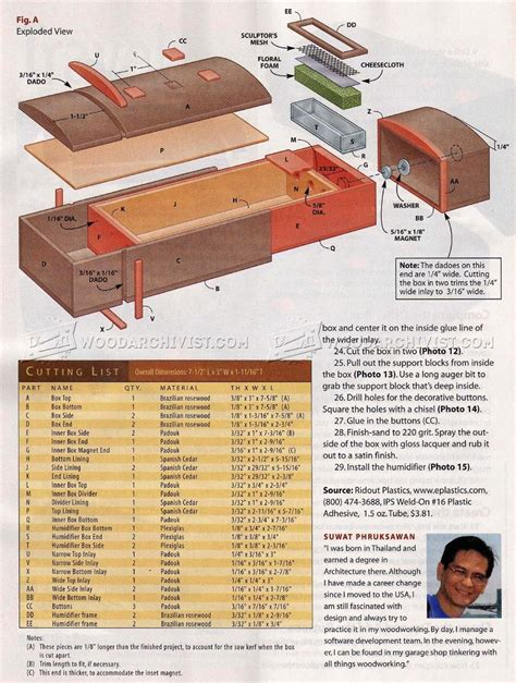 humidor woodworking plans travel humidor plans woodarchivist