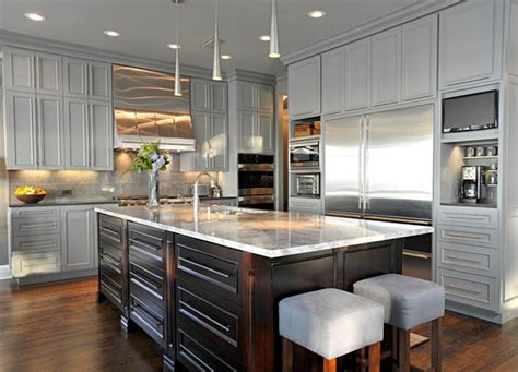 Custom Wood Kitchen Cabinets by 15 Warm And Grey Kitchen Cabinets Home Design Lover