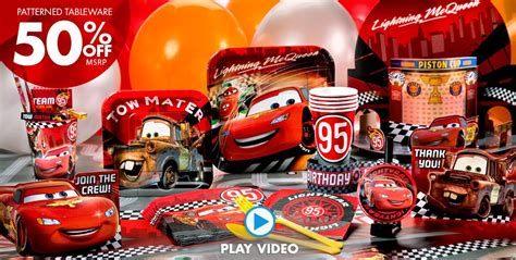Cars Birthday Decorations by Disney Cars Supplies Cars Birthday Ideas City