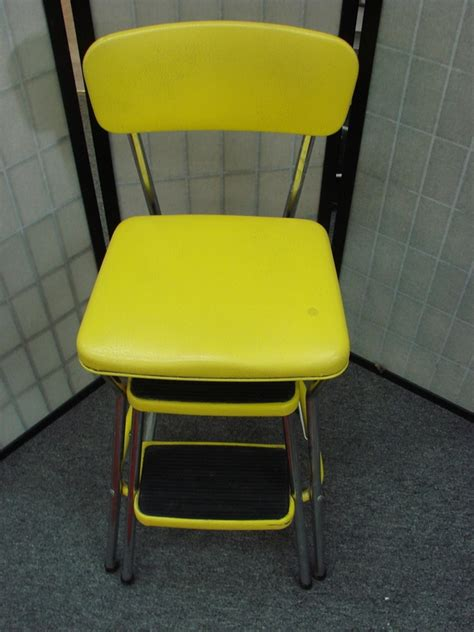 Vintage Cosco Kitchen Chair Fold Out Step Stool by Vintage Cosco Step Stool Kitchen High Chair Fold Pull Out
