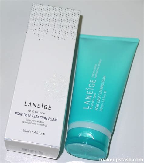 Harga Laneige Pore Clearing Foam review 237 ge pore clearing foam makeup stash