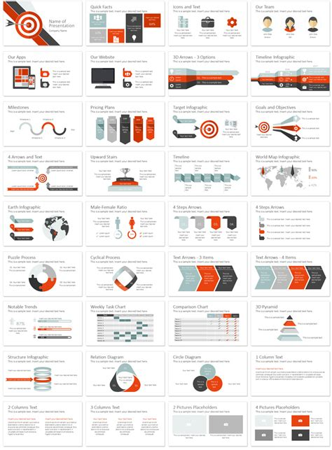 product layout exle ppt target powerpoint template presentationdeck com