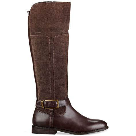 designer wide calf boots marc fisher aysha wide calf boots in brown