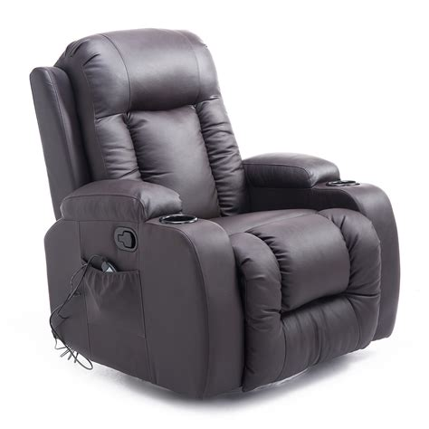 vibrating recliner chairs homcom pu leather heated vibrating massage recliner chair