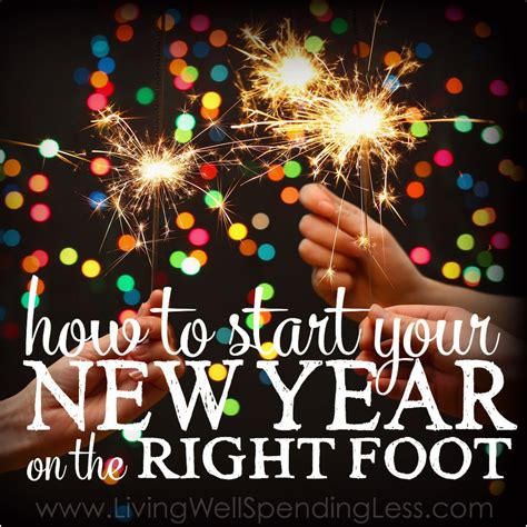 start your new year right start the new year on the right foot living well