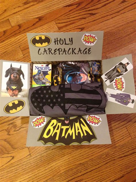 gift ideas for soldiers holy care package batman care package for my batman