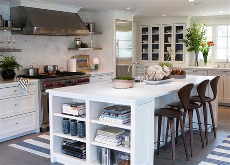 kitchen island shelves island bookcase cottage kitchen design