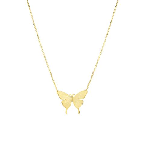 delicate butterfly necklace by dose of