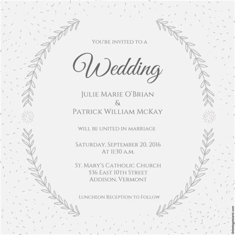 wedding invitation template printable word