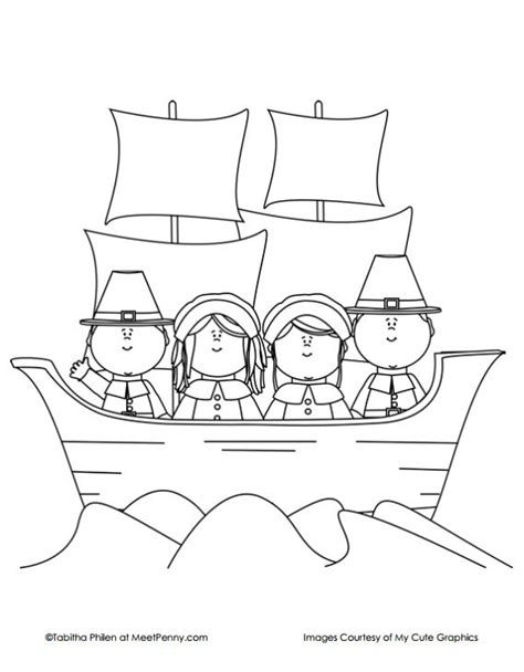 mayflower coloring page thanksgiving coloring pages