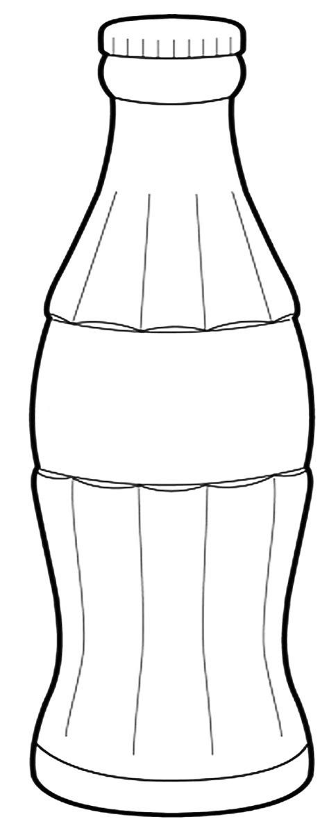 Coca Cola Bottle Free Coloring Pages A Coke Template