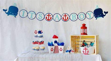 Anchor Baby Shower Ideas by Nautical Baby Shower Ideas Photo 1 Of 7 Catch
