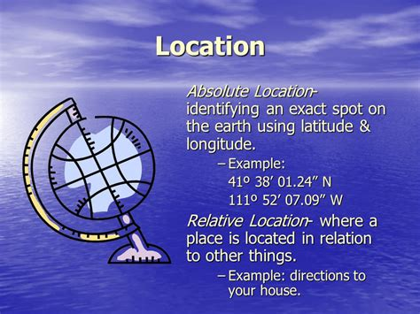 5 themes of geography location exles the 5 themes of geography ppt download