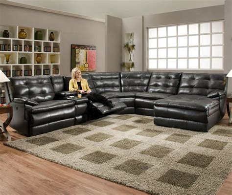 large reclining sectional sofa comfortscapes large partial power reclining sectional sofa