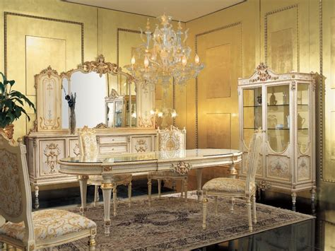 Baroque Dining Room antique italian classic furniture dining room in venetian baroque style