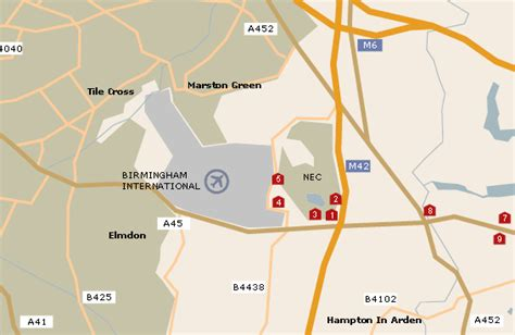 birmingham uk airport map birmingham airport map