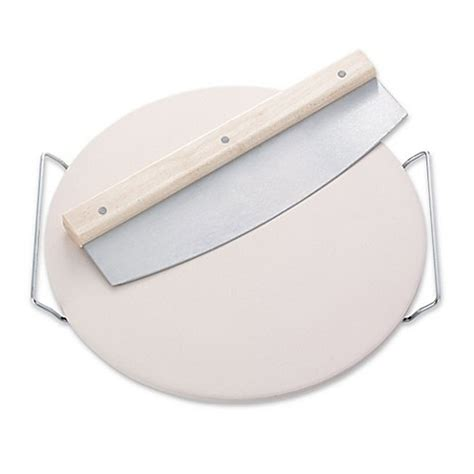 bed bath and beyond pizza stone leifheit round ceramic pizza stone with carrying tray and