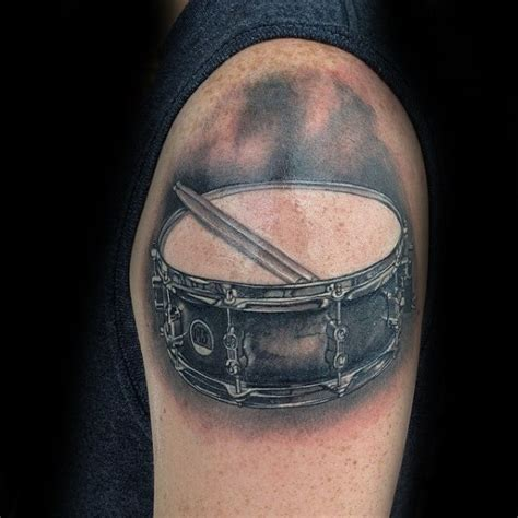 drum tattoos designs 70 drum tattoos for musical instrument design ideas