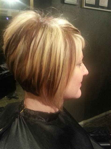 short stacked haircuts for fine hair that show front and back short choppy stacked haircut hairstyles i love