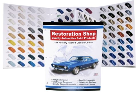 144 classic car colors chart restoration shop paint product