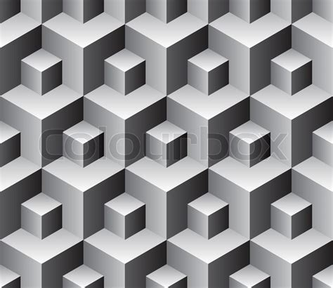 seamless cubes background vector pattern for continuous