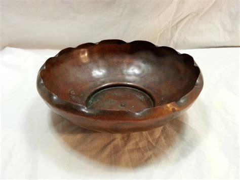 Handmade Copper Bowl - vintage antique craftsmen inc 6 handmade hammered solid