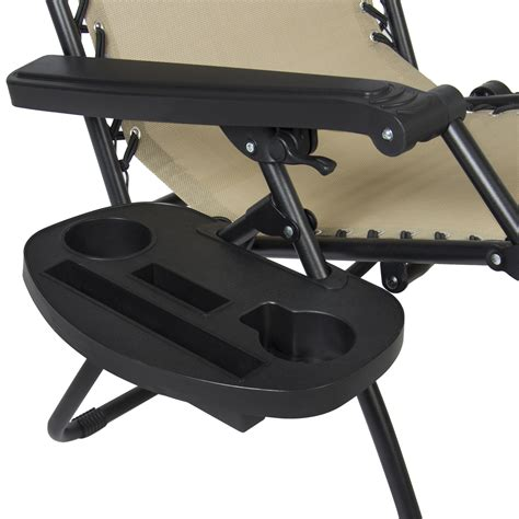 Chair With Canopy And Cup Holder by Folding Zero Gravity Recliner Lounge Chair W Canopy Shade