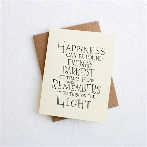 harry potter christmas cardhappiness albus dumbledore quote card encouragement greeting card