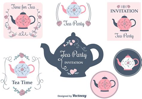 tea card template customize garden tea clip 38