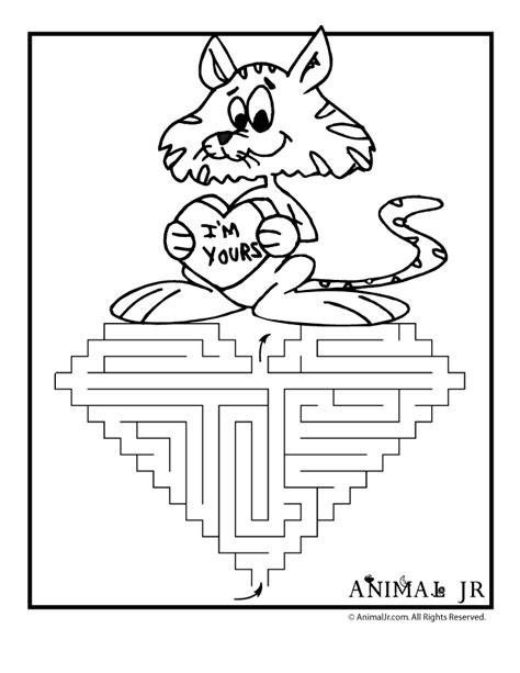 printable valentine s maze i m yours heart printable valentine maze animal jr