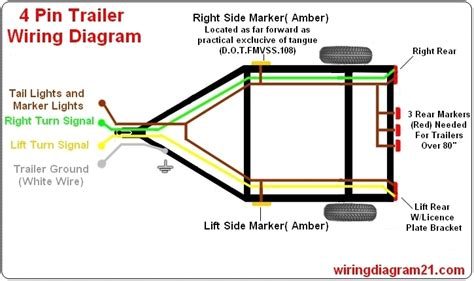trailer lights wiring diagram 4 wire wiring diagram and