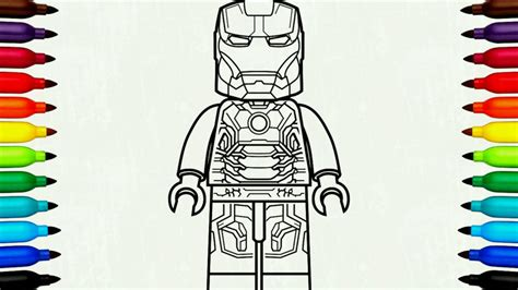 coloring pages lego iron man lego spider man homecoming beware the vulture time lapse