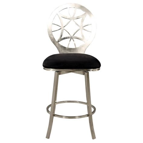 Memory Swivel Counter Stool by Memory Swivel Counter Stool Laser Cut Back Black