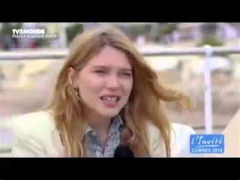 lea seydoux interview l 233 a seydoux interview for l invite youtube