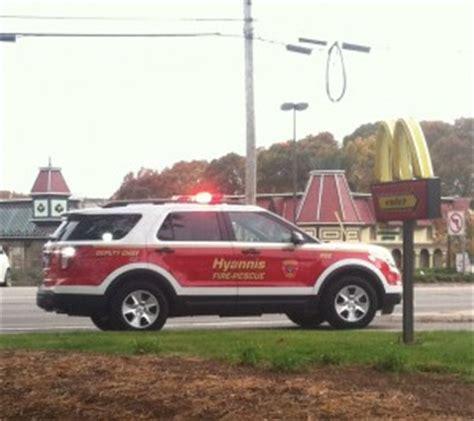 hyannis mcdonalds closed  car crash