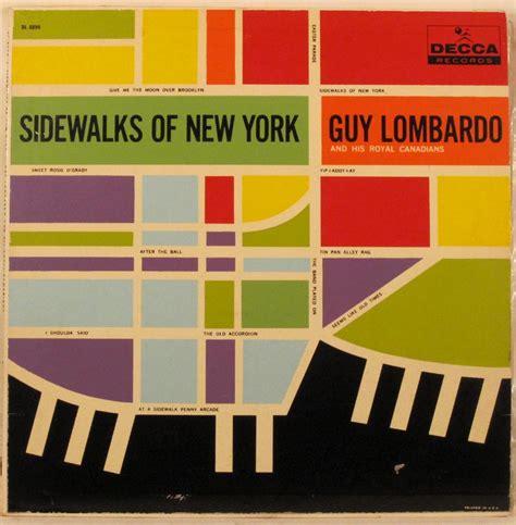 graphic design certificate new york sidewalks of new york guy lombardo vintage album cover