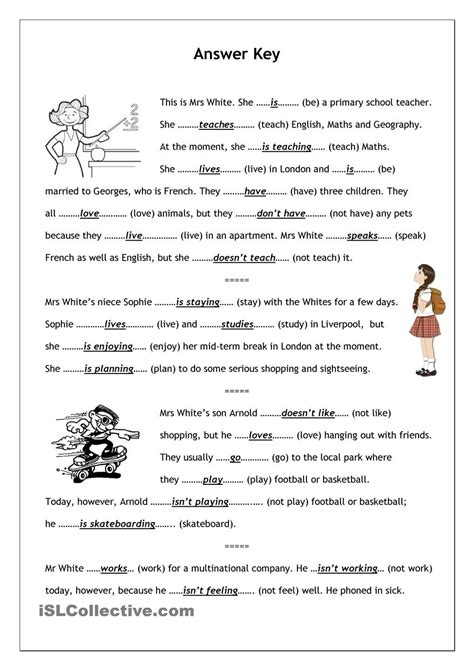 No-frills worksheet for all ages: Present Simple vs