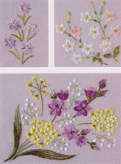 Handmade Embroidery Design - flower in my garden embroidery stitch sewing applique