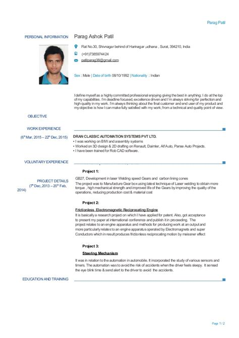 Experienced Resume Sles Mechanical Engineering Experienced Mechanical Engineer Resume