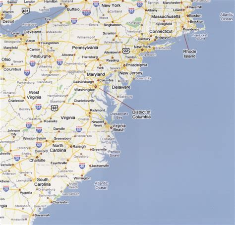 map of the east coast of the usa picture foto car templates fotos map of east coast