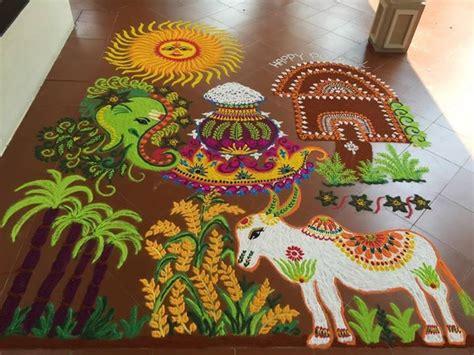 rangoli themes for sankranthi happy makar sankranthi pongal lohri 2016 rangoli