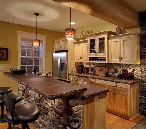 modern cottage kitchen  bar stools founterior