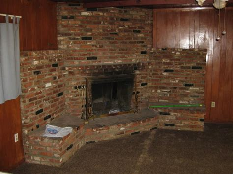 what to do with old fireplace 17 corner brick walls design images brick wall corner